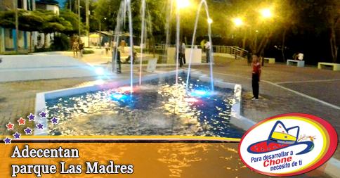 Adecentan parque Las Madres