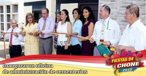 Inauguraron oficina de administración de cementerios