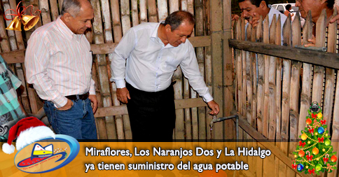 Miraflores, Los Naranjos Dos y La Hidalgo ya tienen suministro del agua potable