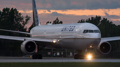 United Sunset Taxiing