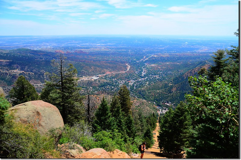 Looking down the Incline from the top