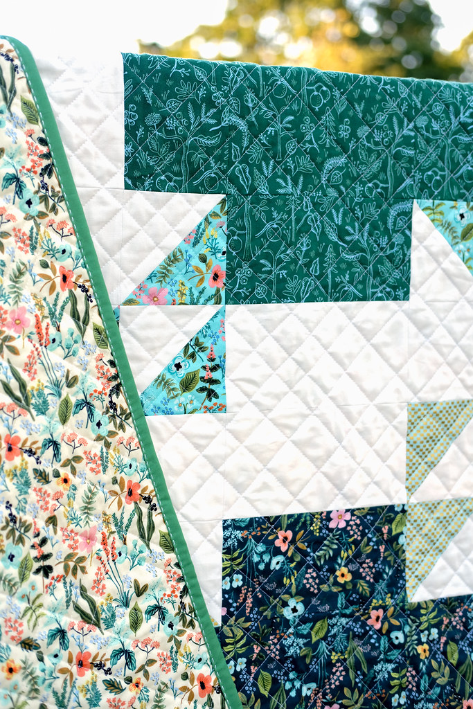 Amalfi June Giant Block Quilt - made using the June Giant Block Tutorial from Erica at Kitchen Table Quilting