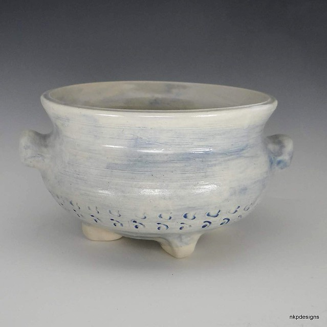 Light Blue Texture Bowl