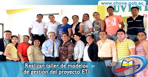 Realizan taller de modelos de gestión del proyecto ETI