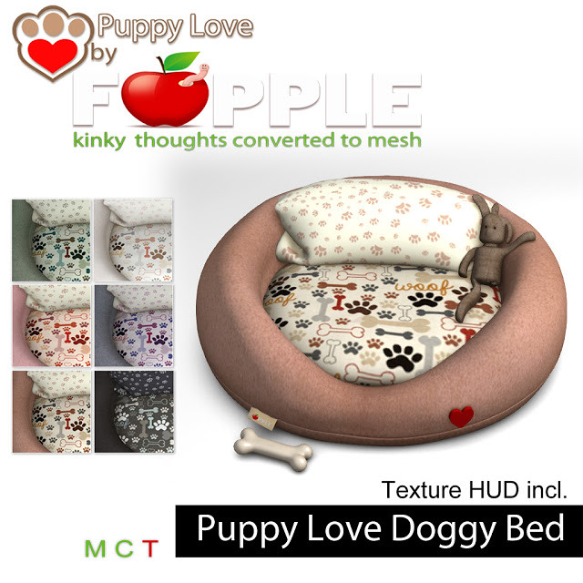 Puppy Love by Fapple - Puppy Love Doggy Bed - TeleportHub.com Live!