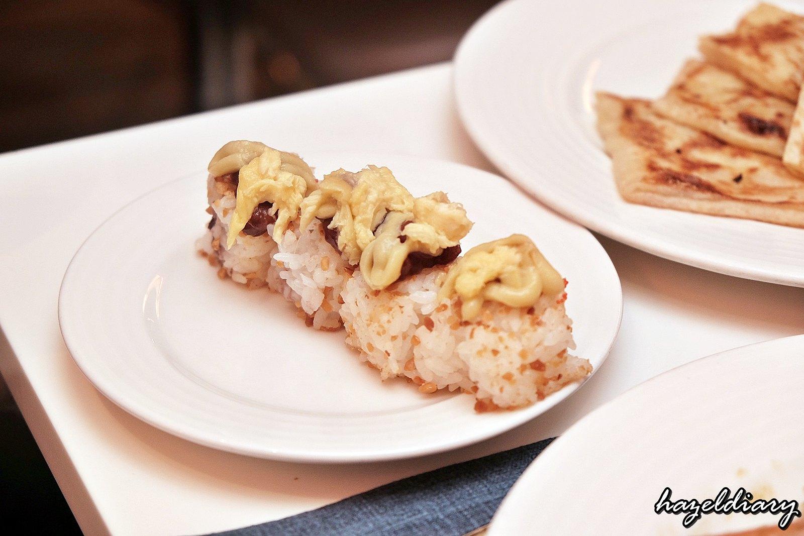 The Line Shangri-La Hotel-Durian buffet-Durian Sushi