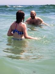 Helen & Daddy In The Ocean