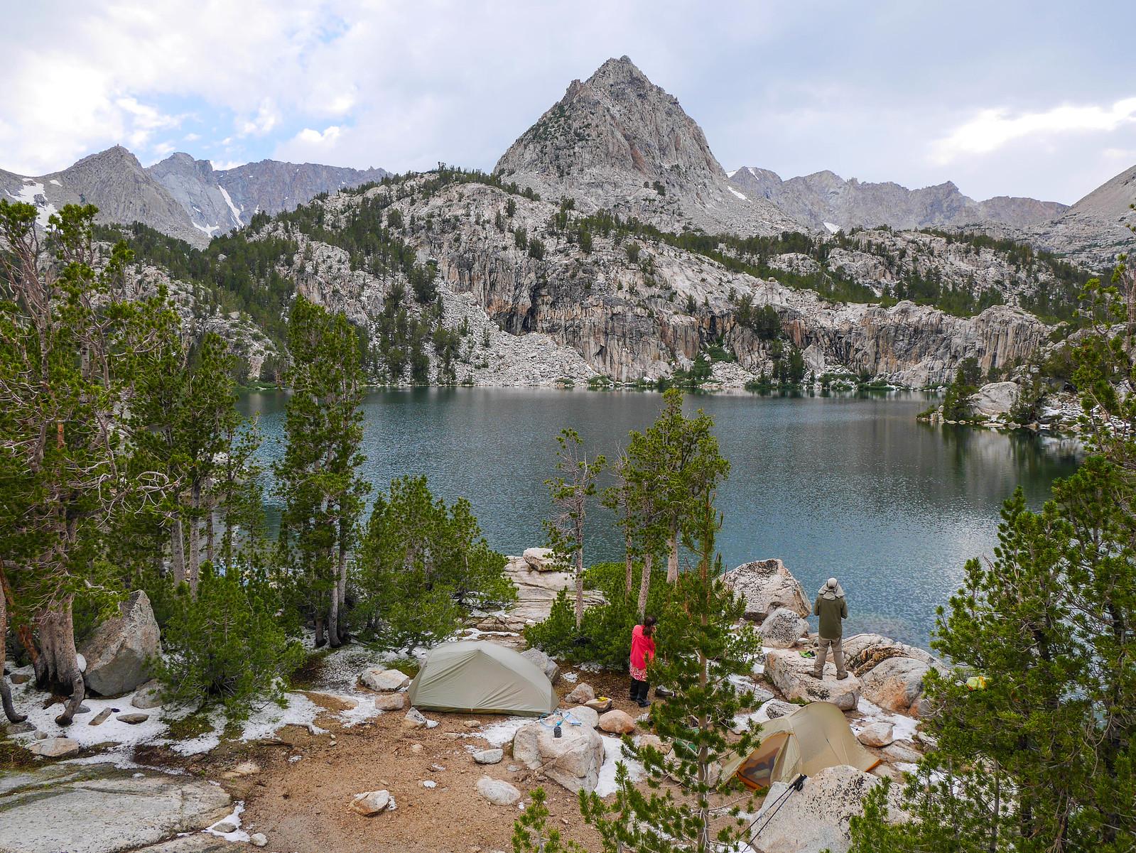 Camp at Lower Lamarck Lake