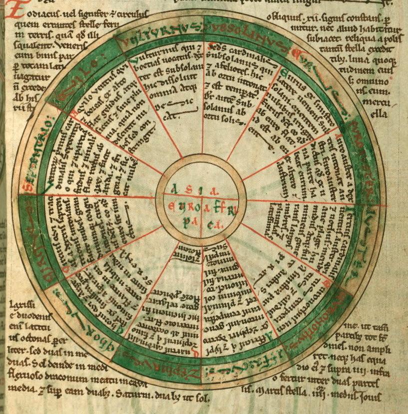 Cosmography Manuscript (12th Century)