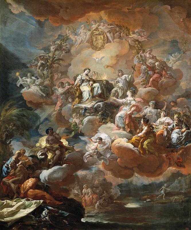Corrado Giaquinto - España rinde homenaje a la Religión y a la Fe (1759)