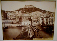Harbour and San Martino hill in Naples (about 1864-1872) - Naples, private collection, now at exhibition Alphonse Bernoud, pioneer of photography, up to September 25, 2018 at Carthusian monastery and museum of San Martino in Naples