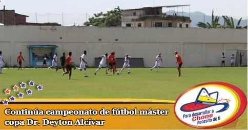 Continúa campeonato de fútbol máster copa Dr. Deyton Alcívar