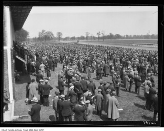 Thorncliffe race track, crowd scene