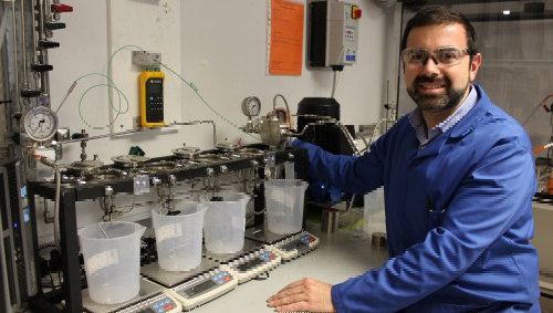 Professor Davide Mattia researching porous metal oxide foams