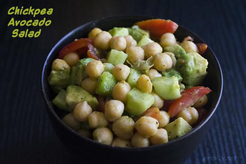 Chickpea Avocado Salad Recipe by GoSpicy.net