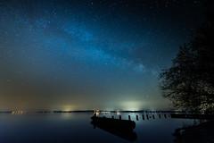 Sur le lac, la voie lactée