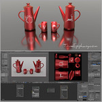 Coffee Cookies Blender 3D