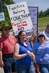Protesting the Soon to be Built Foxconn Electronics Plant Mt. Pleasant Wisconsin 6-28-18  2076