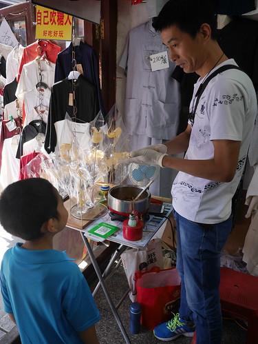 Making candy in Tianjin street