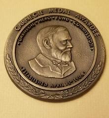 Carnegie Hero Grave Marker Medallion