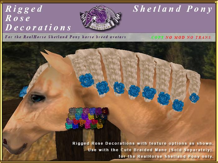 E-RH-Shetland-ManeSet-RoseDecorationsforCuteBraidMane - TeleportHub.com Live!