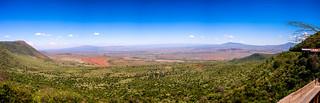 Panorama of the great rift valley near Nairobi, Kenya
