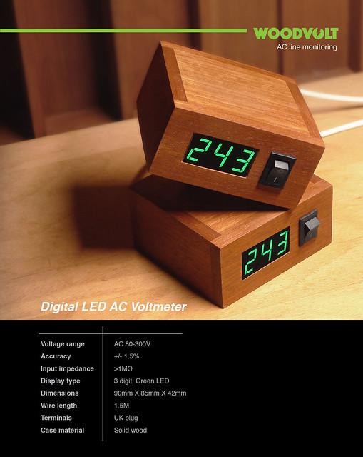 Woodvolt - Digital AC Voltmeter 42491352184_70f01492ab_z