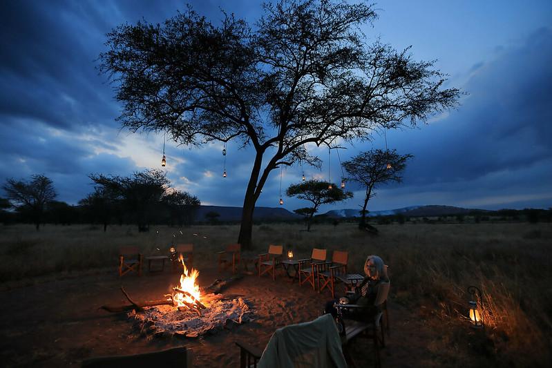Nimali campfire, Serengeti evening