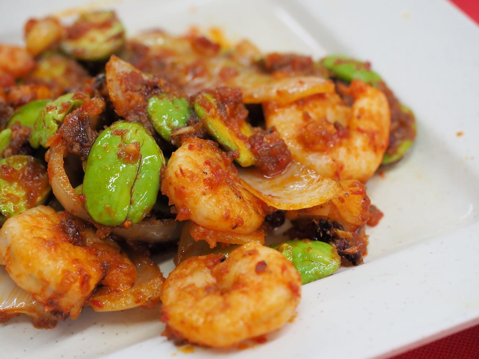 Sambal Petai Prawn from Pangkor Village Seafood, Taman Megah