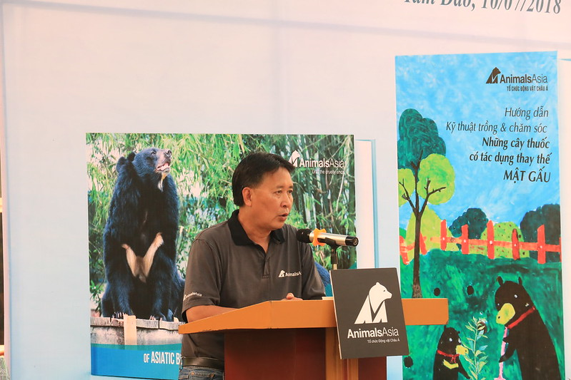 Animals Asia's Vietnam Country Director Tuan Bendixsen speaks at the event