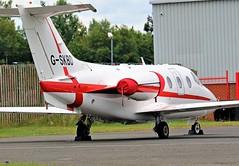 G-SKBD BEECHCRAFT 400 AT NEWCASTLE