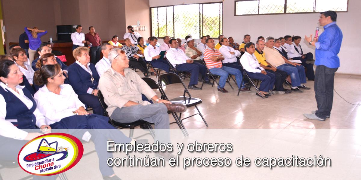 Empleados y obreros continúan el proceso de capacitación