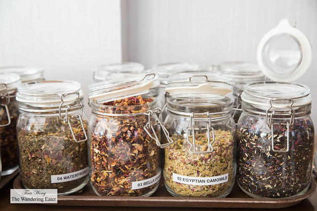 Assortment of teas waiting to be steeped