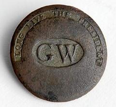 Washington Inaugural Button found in NJ