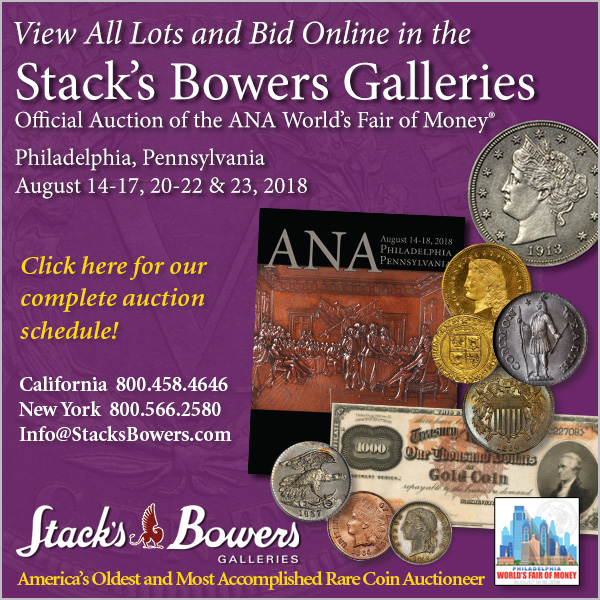 Stacks-Bowers E-Sylum ad 2018-07-29