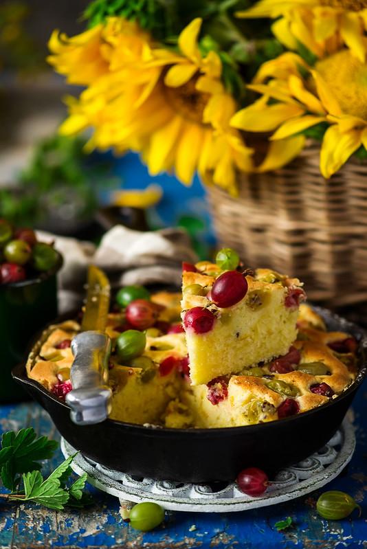 Gooseberry skillet cake.1