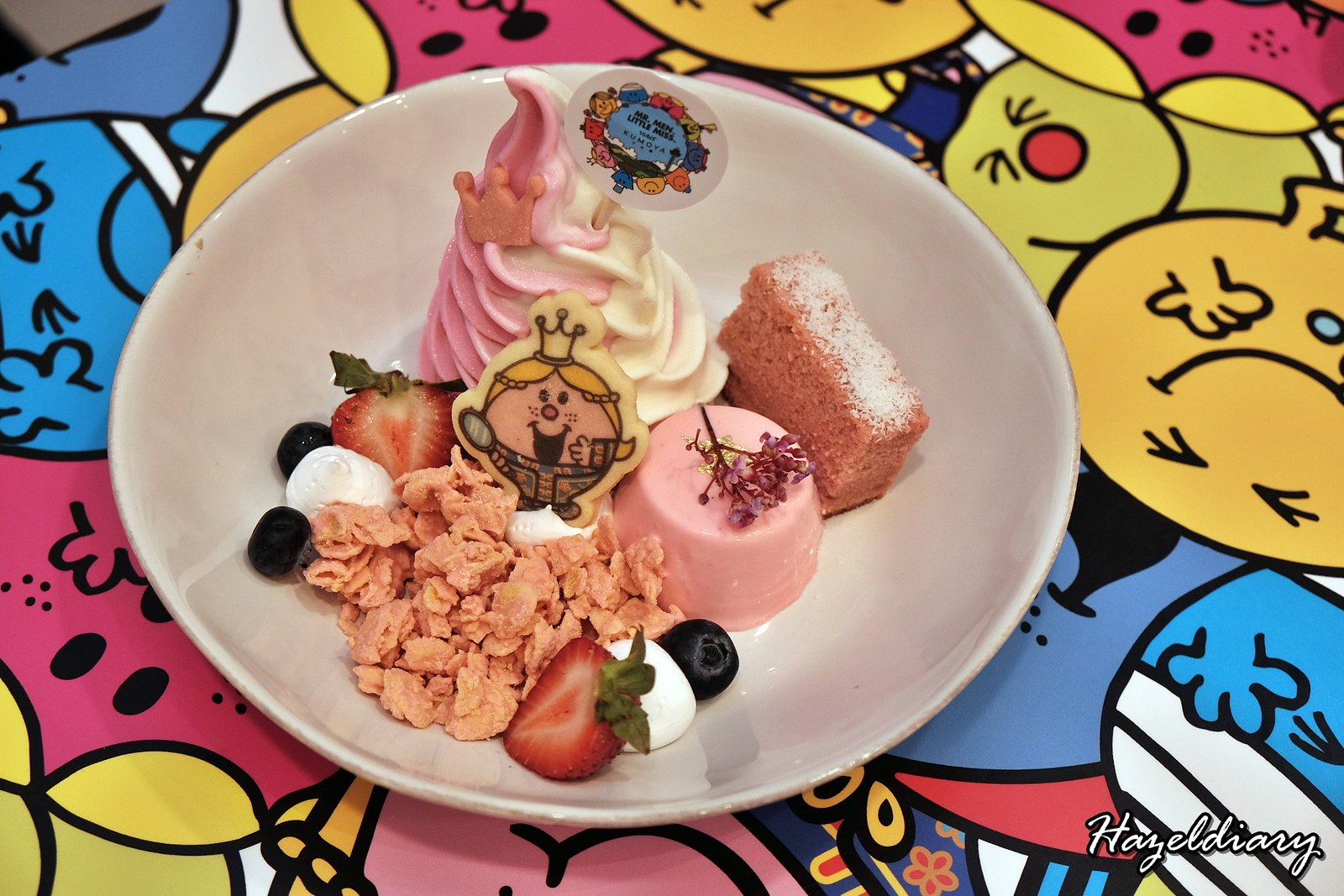 Kumoya Mr Men Little Miss-Little Miss Princess Bandung Strawberry Parfait