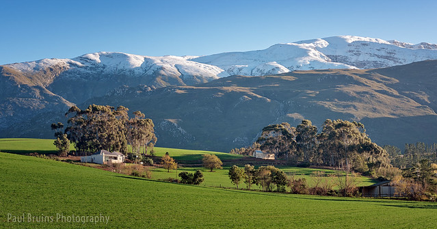 Overberg Farm Snow Panorama
