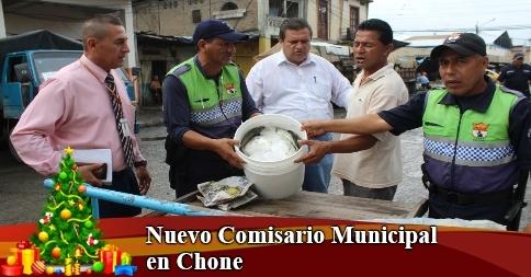 Nuevo Comisario Municipal en Chone