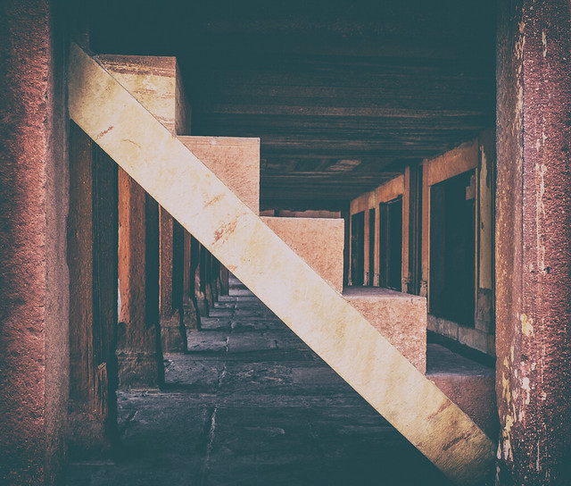 Staircase | Khawabgah, Fatehpur Sikri, India