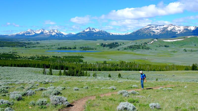 IMG_0547 Hiker Ascending Bunsen Peak Trail