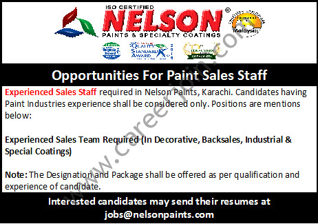 Nelson Paints Jobs July 2018 Available For Paint Sales Staff