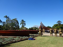 Maryborough. Saturday 21 July 2018. The official opening of the Gallipoli to Armistice memory trail in Maryborough.