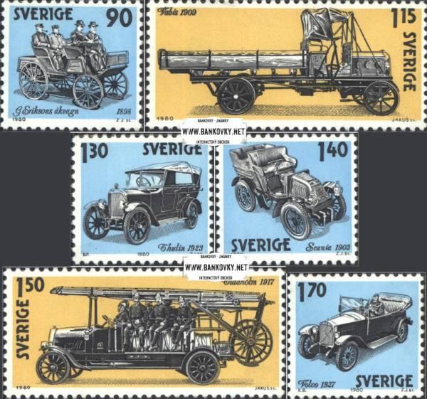 Známky Švédsko 1980 Staré automobily, nerazítkovaná séria