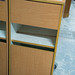 Tall beech bedside locker reduced to E25