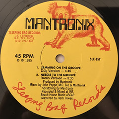 MANTRONIX:NEEDLE TO THE GROOVE(LABEL SIDE-B)