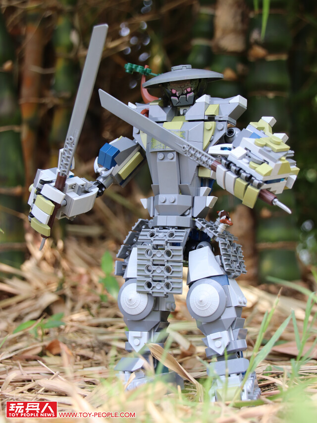 雙刀流超魄力,瀰漫濃厚東洋味的鬼巨人!! LEGO 70658《樂高旋風忍者:旋風忍術大師》鬼武機械人 Oni Titan 開箱報告