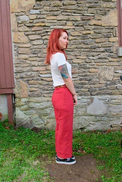Red Linen Lander Pants