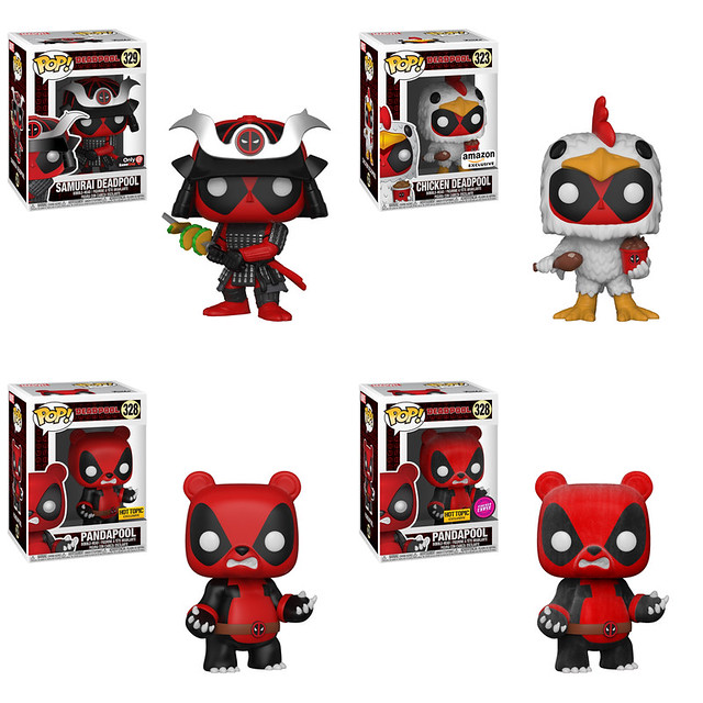 出不完的北爛死侍~~Funko Pop! Exclusives! 系列【死侍】Deadpool 跑遍各地全部收齊吧!!