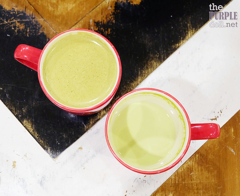 Matcha Green Tea Latte (P155) and Chocolate Green Tea Latte (P165)